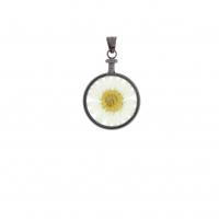 Blumenkind Anhänger Grau BL01MGRWH Blüte WEISS